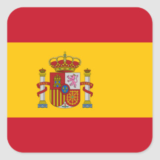 Spanish Flag Square Sticker