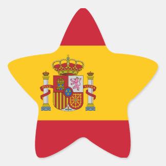 Spanish Flag Star Sticker