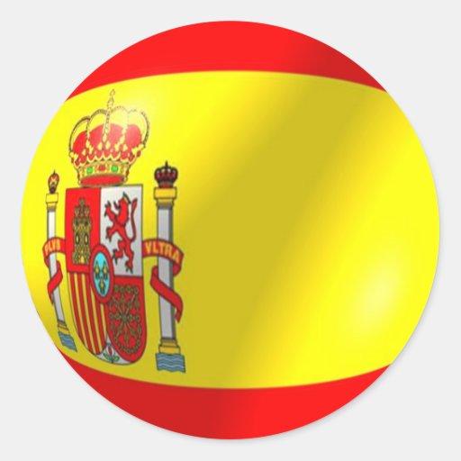 Spanish Flag Sticker | Zazzle