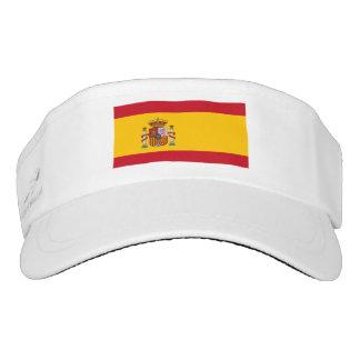Spanish Flag white visor
