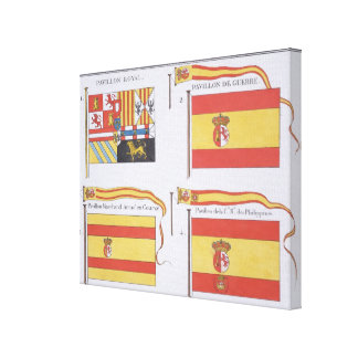 Spanish Flags, from a French book of Flags, c.1819 Canvas Print