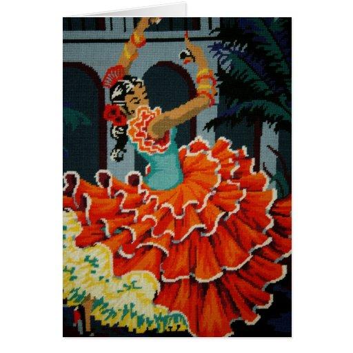 Spanish Flamenco Dancer Card