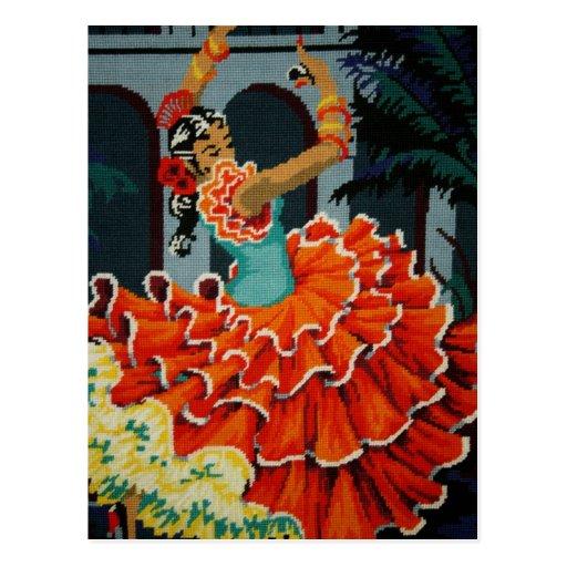 Spanish Flamenco Dancer Post Card