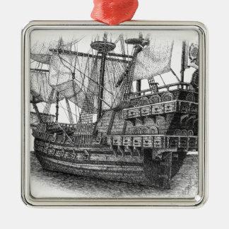 Spanish Galleon Christmas Ornament