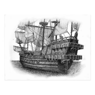 Spanish Galleon Postcard