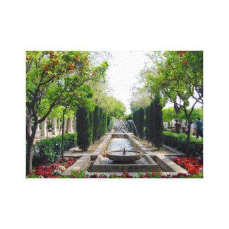 Spanish Garden Fountain Canvas Print