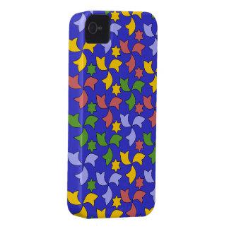 Spanish Geometric Pattern - Navy Blue iPhone 4 Case