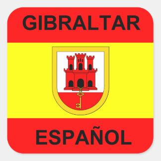 Spanish Gibraltar 20 Square Sticker