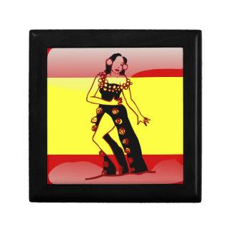 Spanish glossy flag gift box