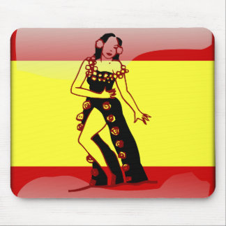 Spanish glossy flag mouse mat