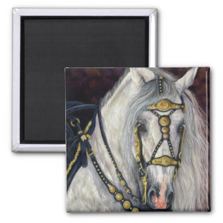 Spanish Gold - Andalusian Horse Square Magnet