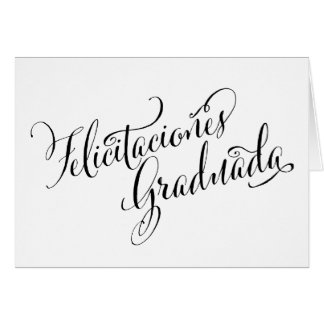 Spanish Grad Card | Felicitaciones Graduada