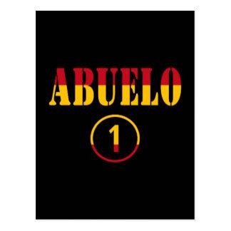 Spanish Grandfathers : Abuelo Numero Uno Postcard