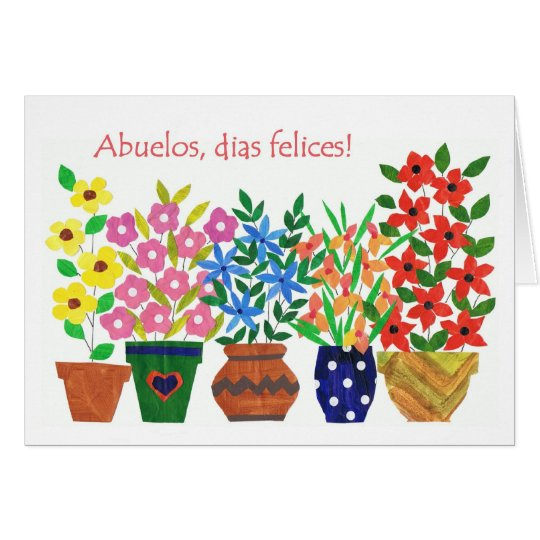 Spanish Greeting Grandparents Day Card