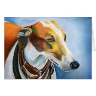 Spanish Greyhound art card (a499) title=