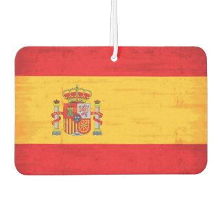 Spanish grunge flag car air freshener