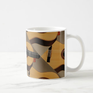 Spanish Guitars Abstract on Mug