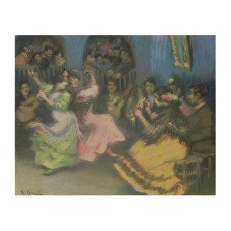 Spanish Gypsy Dancers, 1898 Wood Print