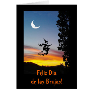 Spanish: Haloween Dia de las Brujas Card