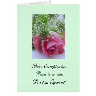Spanish: Happy Birthday/ Feliz Cumpleanos Greeting Card