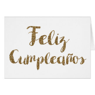 Spanish Happy Birthday, Glitter, Feliz Cumpleanos Card