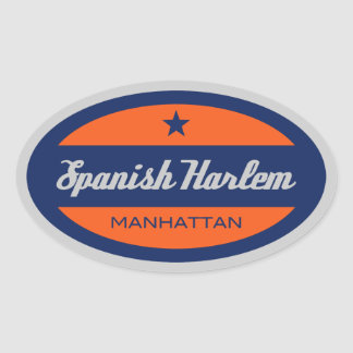 Spanish Harlem Oval Sticker