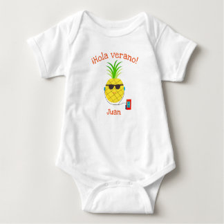 "Spanish ""Hello Summer"" Bodysuit with Pineapple"