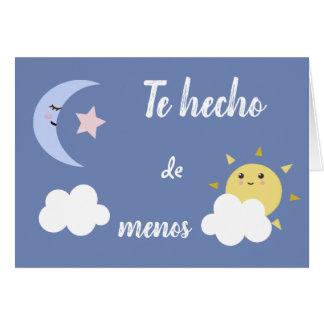 "Spanish ""I Miss You,"" Greeting Card"
