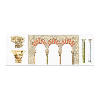 Spanish islamic caliphate art. Arches capitals Canvas Print