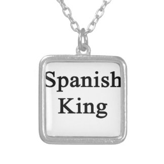 Spanish King Silver Plated Necklace