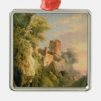 Spanish landscape christmas ornament