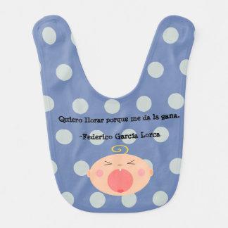 Spanish Language Cute Crying Baby Bib