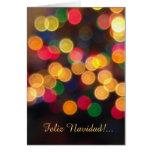 Spanish: luces navideñas -Christmas lights Greeting Card