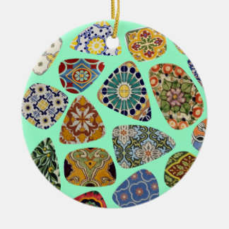 Spanish & Mexican Tile Mosaic Christmas Ornament