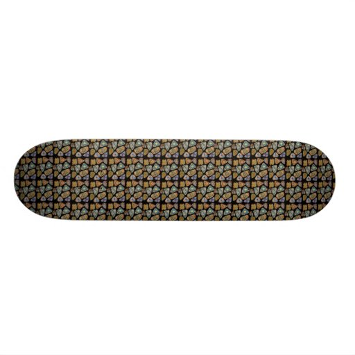 Spanish & Mexican Tile Mosaic Skate Board