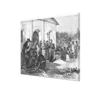 Spanish Mission of the Alamo Canvas Print
