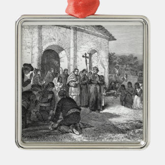 Spanish Mission of the Alamo Christmas Ornament