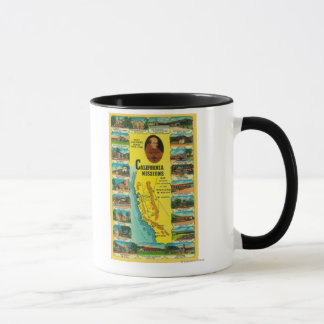 Spanish Missions of California showing Mug