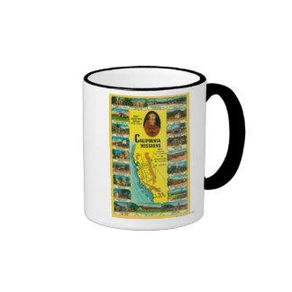 Spanish Missions of California showing Ringer Mug