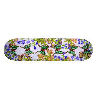 Spanish Moon Moth Floral Skateboard