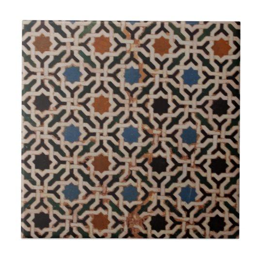 Spanish Moorish Pattern Tile Zazzle Co Uk