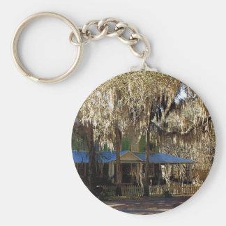 Spanish Moss, Micanopy, Florida Basic Round Button Key Ring