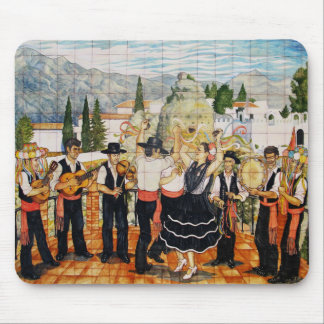 Spanish Musicians Mural Mouse Pad