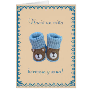 Spanish: Nacio un nino! Birth of baby boy Greeting Card