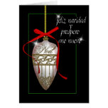 spanish pearl white christmas bauble cards