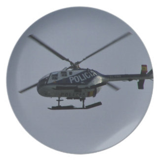 Spanish Police Helicopter Plate