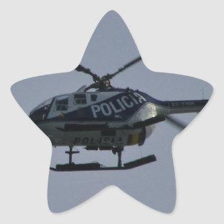 Spanish Police Helicopter Star Sticker