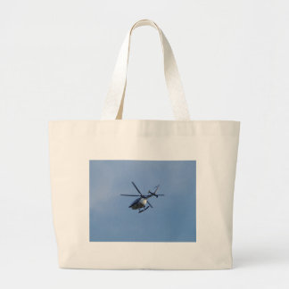 Spanish Police Messerschmitt Helicopter Large Tote Bag