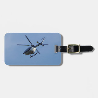 Spanish Police Messerschmitt Helicopter Luggage Tag