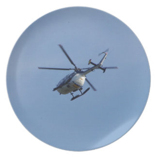 Spanish Police Messerschmitt Helicopter Plate